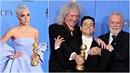 Lady Gaga měla oči pro pláč. Bohemian Rhapsody na Zlatých glóbech zválcoval...
