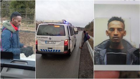 Migrant se promenádoval po dálnici D1. Mířil prý do Anglie.