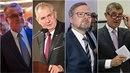 Miroslav Kalousek, Miloš Zeman, Petr Fiala, Andrej Babiš