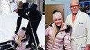 Marek Vašut musel naučit Dominiku Myslivcovou lyžovat.
