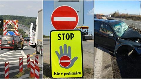 Jízda v protisměru na dálnici je v Česku stále častější. Varovné cedule jsou...