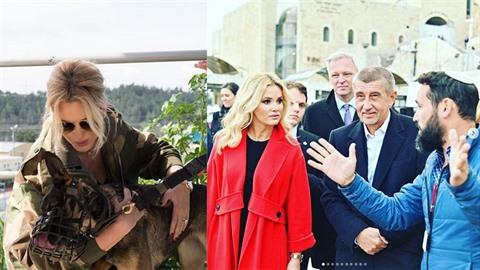 Monika Babišová se do Izraele vybavila luxusními modely.