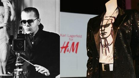 Karl Lagerfeld byl první, kdo se jako uznávaný návrhář podílel na kolekci pro...