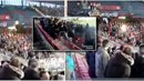 Policie zveřejnila videonahrávku, která ukazuje, jak světlice zranila divačku.