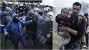V okolí Soluně se střetly dvě tisícovky migrantů s policií.