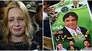 Pákistánský politik Hanif Abbasi (na plakátu) se dočkal svobody. Dočká se i...