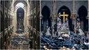 Vnitřek katedrály Notre-Dame doslova lehl popelem.