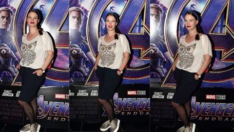Kristýna Leichtová na premiéře Avengers