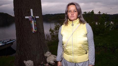 Šárka Jarolímková u pomníčku, který pro svou dcerku vytvořila na místě, kde ji...