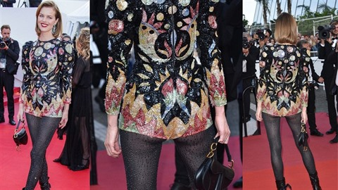 Eva Herzigová letos v Cannes válí s průhlednými outfity.