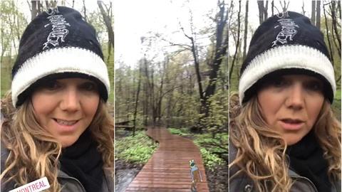 Lucie Vondráčková v Montrealu vyrazila do lesa a nestačila se divit. Byla tam...