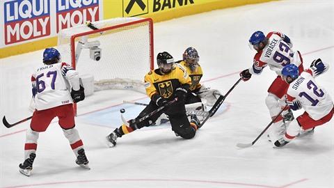 Čtvrtfinále mistrovství světa v hokeji, Česká republika - Německo, 23. května...