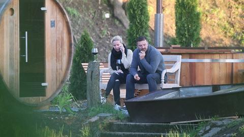 Tomáš Řepka a Kateřina Kristelová během wellness pobytu v Resortu Mlýn Černovice