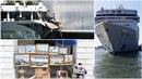 Obří výletní lodě blokují Benátky, nedávno na tento problém upozornil Banksy.