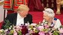Donald Trump s královnou byli samý vtípek.