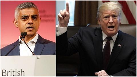 Londýnský starosta Sadiq Khan a americký prezident Donald Trump si opět vjeli...