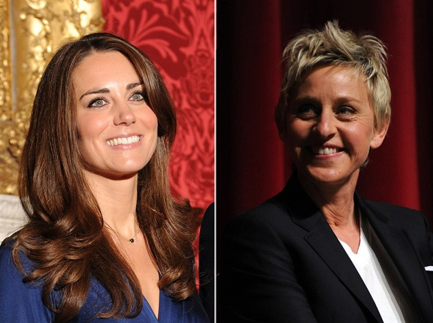 Kate Middleton a Ellen DeGeners