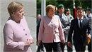 Angela Merkelová přivítala ukrajinského prezidenta. Nebylo jí přitom vůbec...