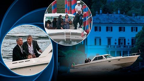 Barack Obama a George Clooney se projeli lodí. A jsou z toho snímky jako z...