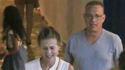 Tom Hanks se ženou Ritou Wilson na dovolené v Řecku