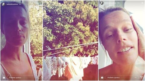 Helena Houdová v Chorvatsku bydlí v potemnělé díře. Modelka vypadá unaveně....