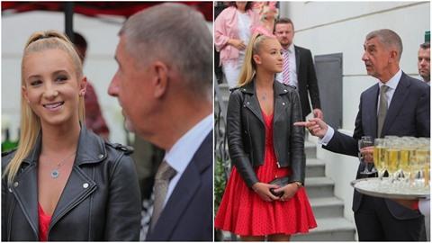 Vivien Babišová doprovázela otce na francouzskou ambasádu. A náramně jí to...