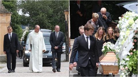 Kněz se během pohřbu Heleny D. pustil do její manžela a vraha v jedné osobě.