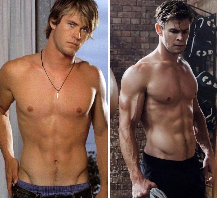 Chris Hemsworth... Ještě před Thorem z něho holkám vlhl rozkrok, ale poté co dostal do ruky kladivo, se z něho stal drtič a lamač dívčích klínů. během natáčení Chris i režisér věděli, že Thor bude celou dobu hlavně bez trička, a tak měl i speciální dietu z červeného masa.
