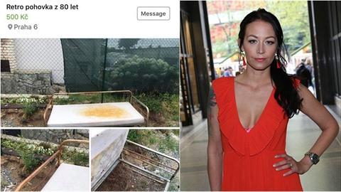 Agáta Prachařová měla v internetovém bazaru nabízet nechutnou matraci za 500...
