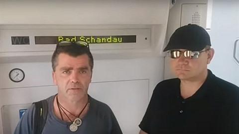 Národní nacionalisté hlídkovali ve vlaku, který jel z Německa do Česka a...