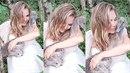 Lucie Vondráčková se ve svatebních šatech fotila s husou.