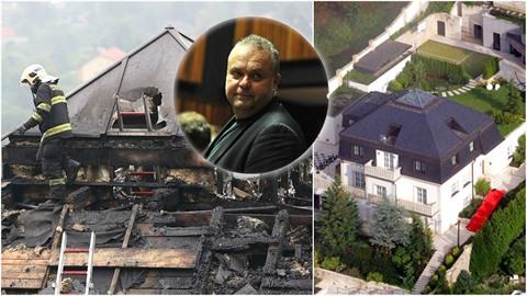 Vilu Radovana Krejčíře přes noc zachvátil požár. Jak šel s černošickou pevností...