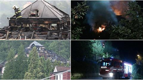 Někdejší vilu Radovana Krejčíře v Černošicích zachvátil požár. Hořely dvě...