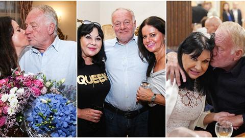Luděk Sobota s manželkou Adrienou slavili výročí svatby. Tentokrát už se držel...