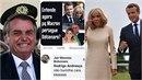 Brazilský prezident Bolsonaro se trapně vysmál Macronově manželce Brigitte.
