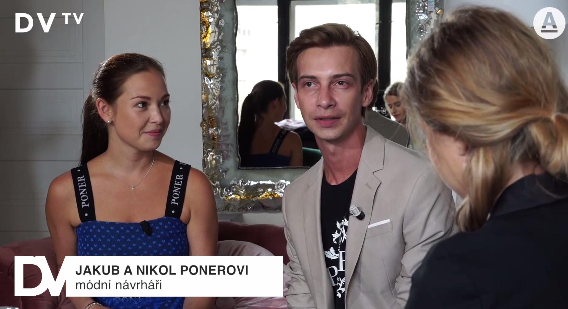 Nikol Ponerová a Jakub Poner v rozhovoru pro DVTV.