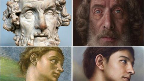Jihokorejský umělec Joongwon Jeong oživuje starodávné sochy a obrazy.