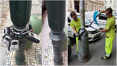 Pracovníci pražských technologií mají s odstraňováním schránek s klíči pro...