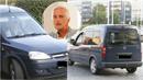 Herec Tomáš Hanák se svým vozem při příjezdu na premiéru Nabarveného ptáčete...