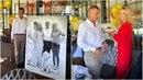 Andrej Babiš slavil narozeniny na Čapím hnízdě. Dostal obraz i domácí dort.