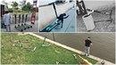 Koloběžky Lime jsou všude po Praze - parkující uprostřed chodníku, v koších i...