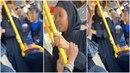 Žena v hidžábu rozpoutala rasovou melu v londýnském autobuse.