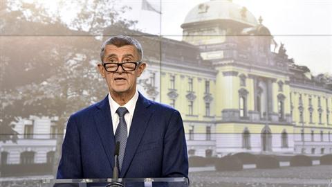 Premiér Andrej Babiš vystoupil 2. října 2019 na tiskové konferenci po mimořádné...