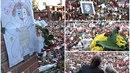 Týden od smrti Gotta je na Bertramce tisíce svíček.