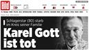 Německý Bild Gottovi věnoval titulní stranu.