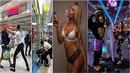 Na agresivního ochrankáře v pražském Tesku upozornila sexy hosteska Oktagonu.