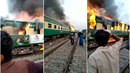 Požár ve vlaku si vyžádal přes 70 obětí.
