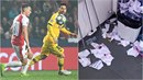 Slávista Jan Bořil si s hvězdným Lionelem Messim užil svoje.