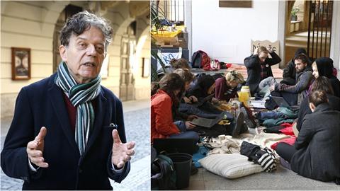 Ke stávkujícím studentům se vyjádřil také politolog Alexander Tomský.