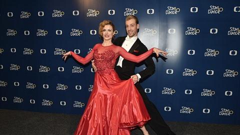 Gabriela Koukalová se svým tanečním partnerem Martinem Prágrem
